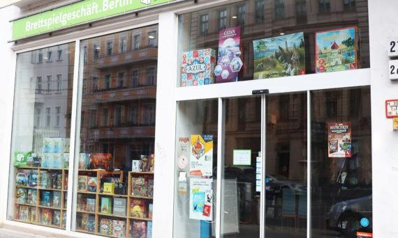 Eingang Brettspielgeschäft.Berlin